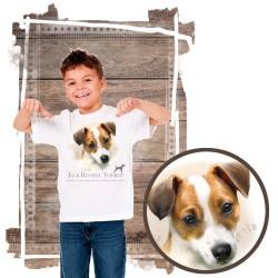 "Koszulka chłopięca z psem ""Jack russell terier"""