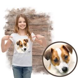 """Koszulka dziewczęca z psem """"jack russel terier"""""""