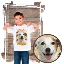 """Koszulka chłopięca z psem """"jack russell terier kocha zażarcie"""""""