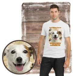 """Koszulka męska z psem """"jack russell terier kocha zażarcie"""""""