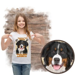 """Koszulka dziewczęca """"Berneński Pies Pasterski kocha zażarcie"""""""