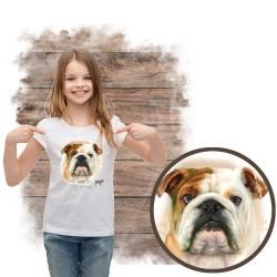 """Koszulka dziewczęca z psem """"bulldog angielski"""""""