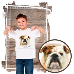 """Koszulka chłopięca z psem """"buldog angielski"""""""