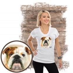 "Koszulka damska z psem ""buldog angielski"""