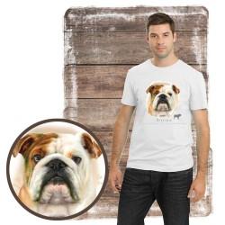 "Koszulka męska z psem ""buldog angielski"""