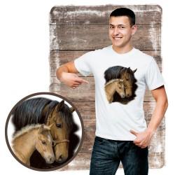 """Koszulka męska z koniem """"GENTLE TOUCH"""""""