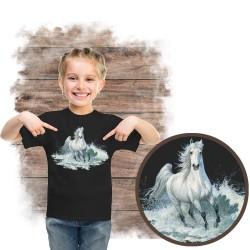 """Koszulka dziewczęca z koniem """"surf run"""""""