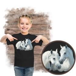 """Koszulka dziewczęca z koniem """"stable mates"""""""
