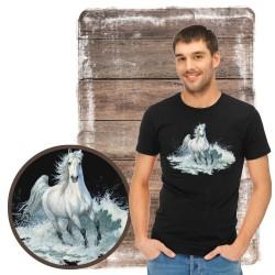 """Koszulka męska z koniem """"Surf run"""""""