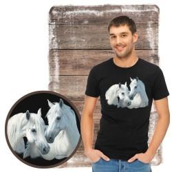 "Koszulka męska z koniem ""stable mates"""