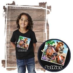 """Koszulka chłopięca z koniem """"Selfie 3 amigos"""""""