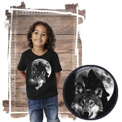 """Koszulka dziecięca z wilkiem """"Wolf Moon- świeci w ciemności"""""""