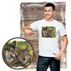 "Koszulka męska z wilkiem ""mama boy wolves"""