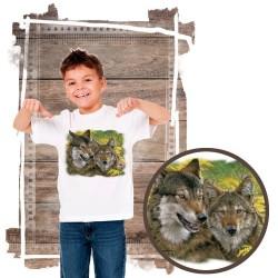 """Koszulka dziecięca z wilkiem """"mama boy wolves"""""""
