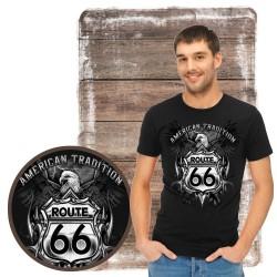 """Koszulka męska motory """"route 66"""""""