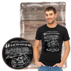 "Koszulka męska motocykl ""highway"""