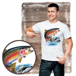 "Koszulka męska motyw wędkarski ""rainbow trout"""