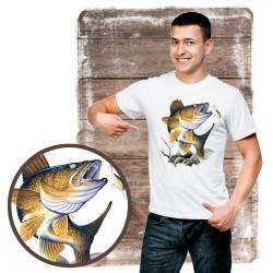 "Koszulka męska motyw wędkarski ""walleye"""