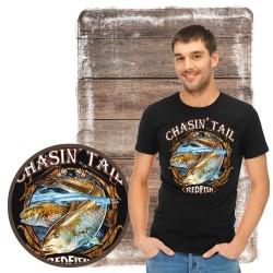 "Koszulka męska motyw wędkarski ""redfish chasin tail"""