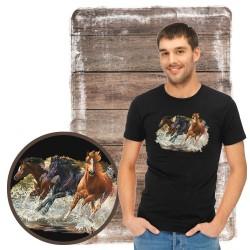 """Koszulka męska z koniem """"splash"""""""