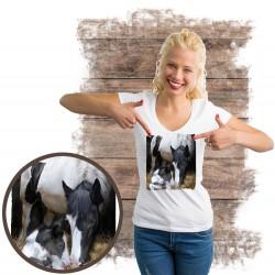 "Koszulka damska z koniem ""A Mother's Way"""
