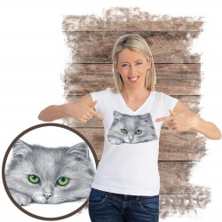 koszulka z kotem GREEN EYED KITTEN