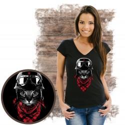 koszulka z  kotem ADVENTURER CAT