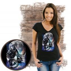 koszulka z kotem SPACE CATS MOON