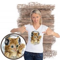 koszulka z kotem PARTY-ANIMAL-RHINESTONES