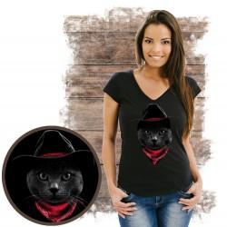 koszulka z kotem COWBOY CAT