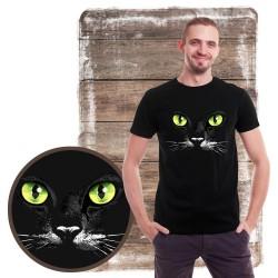 koszulka z kotem GREEN EYES BLACK CAT