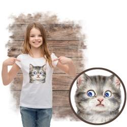 koszulka z kotem CURIOUS CAT