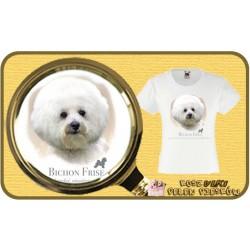 koszulka z psem bichon frise HR