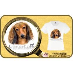 koszulka z psem jamnik dlugowlosy