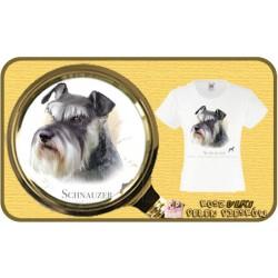 koszulka z psem sznaucer HR