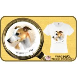 koszulka z psem whipet HR