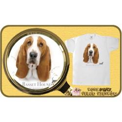 koszulka z psem basset