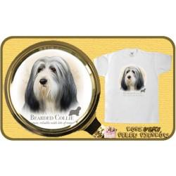 koszulka z psem bearded collie