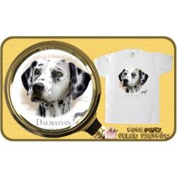 koszulka z psem dalmatyńczyk
