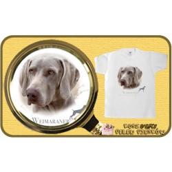 koszulka z psem wyżeł weimarski