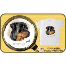 koszulka z psem rotweiler