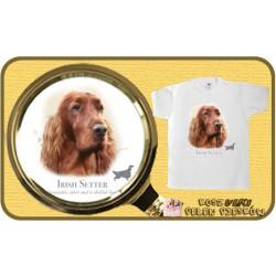 koszulka z psem seter irlandzki