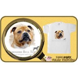 koszulka z psem stafordshire bulterier