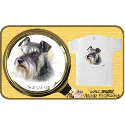 koszulka z psem sznaucer