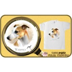 koszulka z psem whippet