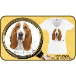 koszulka damska z psem basset