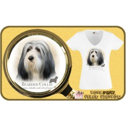 Koszulka damska z psem bearded collie