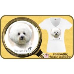 Koszulka damska z psem bichon frise