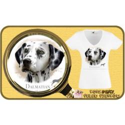 Koszulka damska z psem dalmatyńczyk