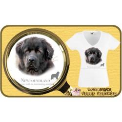 Koszulka damska z psem nowofunland
